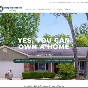 Buying Your Home Now is Easy Website Homepage Screenshot